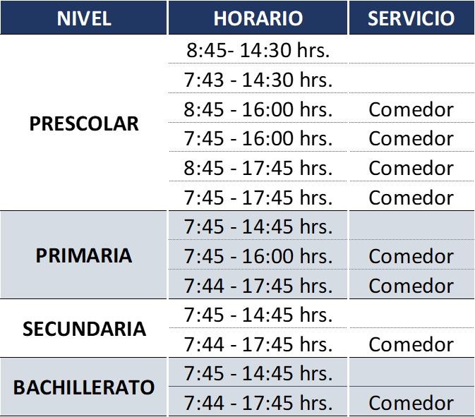 Horarios extendidos en el Colegio Simón Bolivar Puebla