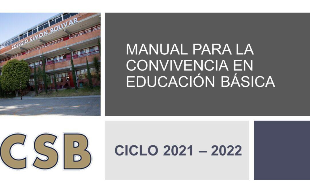 MANUAL PARA LA CONVIVENCIA EN EDUCACIÓN BÁSICA