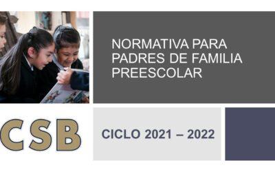 NORMATIVA PARA PADRES DE FAMILIA PREESCOLAR