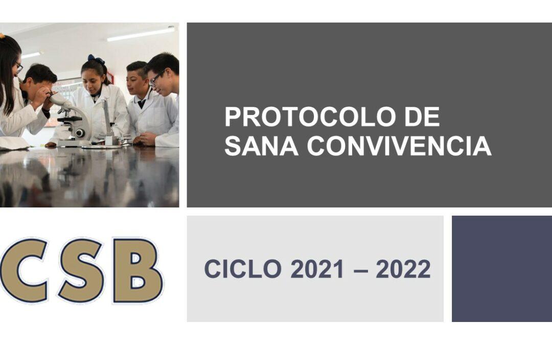 PROTOCOLO DE SANA CONVIVENCIA COLEGIO SIMON BOLIVAR