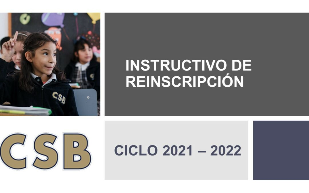 INSTRUCTIVO DE REINSCRIPCIÓN