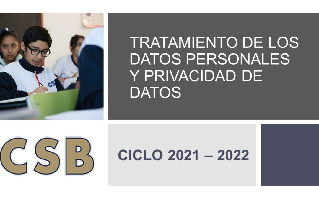 TRATAMIENTO DE LOS DATOS PERSONALES Y PRIVACIDAD DE DATOS